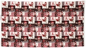 Monkey Around Patchwork Panel - Red 22449-AR (3 repeats)
