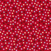 Monkey 'N Round Fabric - Red -CLEARANCE