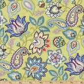 Mood Swings Jacobean Cotton Fabric - Sage