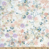 Mood Swings Vine Cotton Fabric - Cream