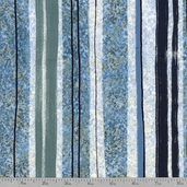 Moon Shadows Lunar Stripe Cotton Fabric - Blue