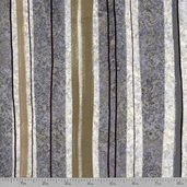 Moon Shadows Lunar Stripe Cotton Fabric - Grey