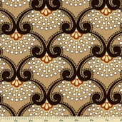 Moonstruck Cotton Fabric - Light Brown 35080-3