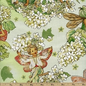 Morning Fairy Garden Cotton Fabric - Apple DM4221-APPL-D