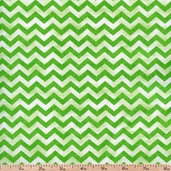 Morning Mist Chevron Cotton Fabric - Green