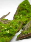 Moss Covered Artificial Bark - Clearance