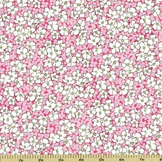 Mothers Melodies Cotton Fabric Floral - Camellia Pink