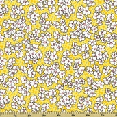 Mothers Melodies Cotton Fabric Floral - Screamin'  Yellow