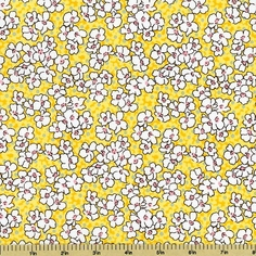 Mother's Melodies Cotton Fabric Floral - Screamin'  Yellow