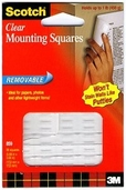 Mounting Squares Removable - .68In x .68In - Pkg of 35 - Clear