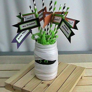Mummy Jar Centerpiece