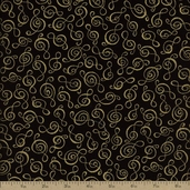 Music Cotton Fabric - Black MUSIC-CM1694