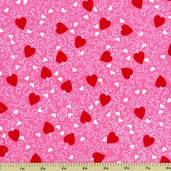 My Funny Valentine Cotton Fabric Pink 3928-8612-11