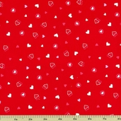My Funny Valentine Cotton Fabric - Red 3928-8613-10