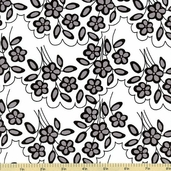 Mystique Flower Cotton Fabric White C3082