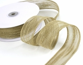 Natural Jute Fiber Ribbon 1.5 in. 25yds spool