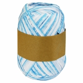 Natural Raffia Ribbon Two-Tone - Blue Ombre