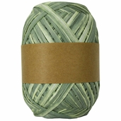 Natural Raffia Ribbon Two-Tone - Green Ombre