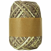 Natural Raffia Ribbon Two-Tone - Milk Chocolate Ombre