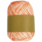 Natural Raffia Ribbon Two-Tone - Peach Ombre