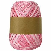 Natural Raffia Ribbon Two-Tone - Pink Ombre