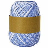 Natural Raffia Ribbon Two-Tone - Smoke Blue Ombre