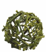 Natural Twig Ball 4 inch - Green