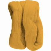 Natural Wool Roving - Gold