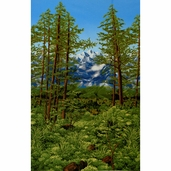 Nature Studies 2 Landscape Cotton Fabric - Meadow SRK-13625-270 MEADOW