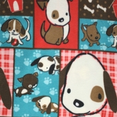 Naughty Puppies Fleece Fabric 61603-1
