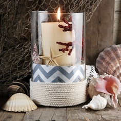 Nautical Wrapped Cylinder