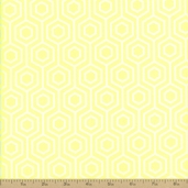 Neon And On Hexagon Cotton Fabric - Neon Yellow