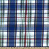 Newport Plaids Cotton Fabric - Blue CUD-13072-4