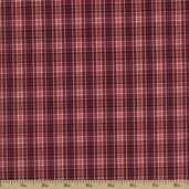 Newport Plaids Cotton Fabric - Red CUD-13074-3