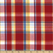 Newport Plaids Cotton Fabric - Red CUD-13075-3