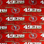 NFL Fleece Fabric - 49ers - Red