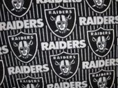 NFL Fleece Fabric - Oakland Raiders - Black