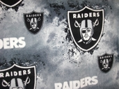 NFL Fleece Fabric - Oakland Raiders - Grey