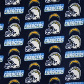 NFL Fleece Fabric - San Diego Chargers - Navy