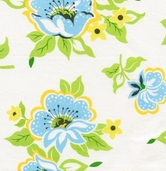 Nicey Jane by Heather Bailey for Free Spirit Fabrics - Church Flowers - Blue