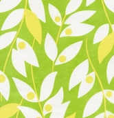 Nicey Jane by Heather Bailey for Free Spirit Fabrics - Lindy Leaf - Green - CLEARANCE