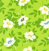 Nicey Jane by Heather Bailey for Free Spirit Fabrics - Swing Toss - Grass