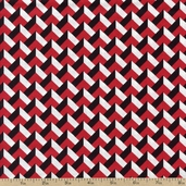Night and Day 4 Chevron Cotton Fabric - Red EWK-13557-3 RED