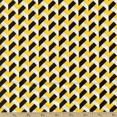 Night and Day 4 Chevron Cotton Fabric - Yellow EWK-13557-5 YELLOW