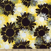 Night and Day 4 Floral Cotton Fabric - Yellow EWK-13554-5 YELLOW