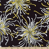 Night and Day 4 Large Floral Cotton Fabric - Yellow EWK-13551-5 YELLOW