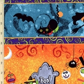 Nightmare Manor Repeating Stripe Cotton Fabric Multi