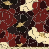 Nights in Barcelona Cotton Fabric - Large Floral - Red 2101601-1