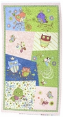 Nighty Night Owl Cotton Fabric - Panel