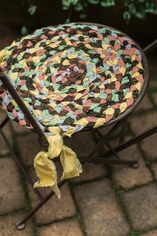 No Sew Rag Rug Chair Pad